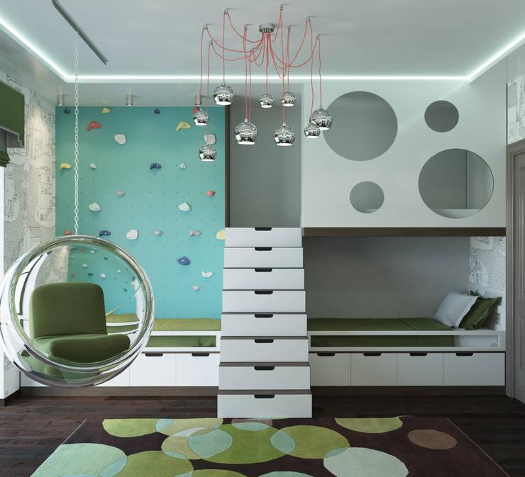 modern Nursery/kid's room by AT3D