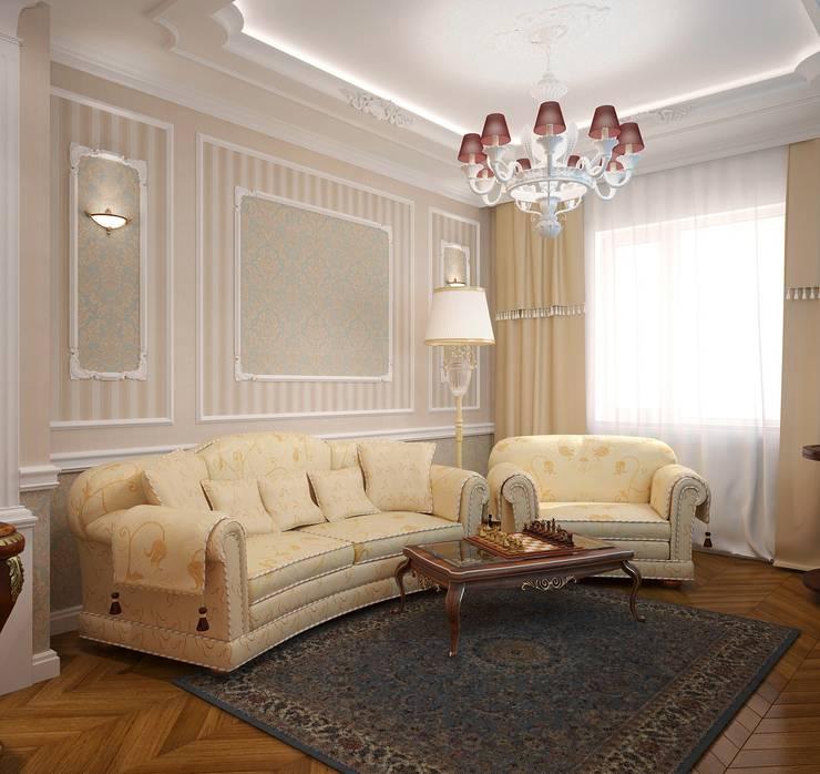 غرفة المعيشة تنفيذ Марина Виноградова