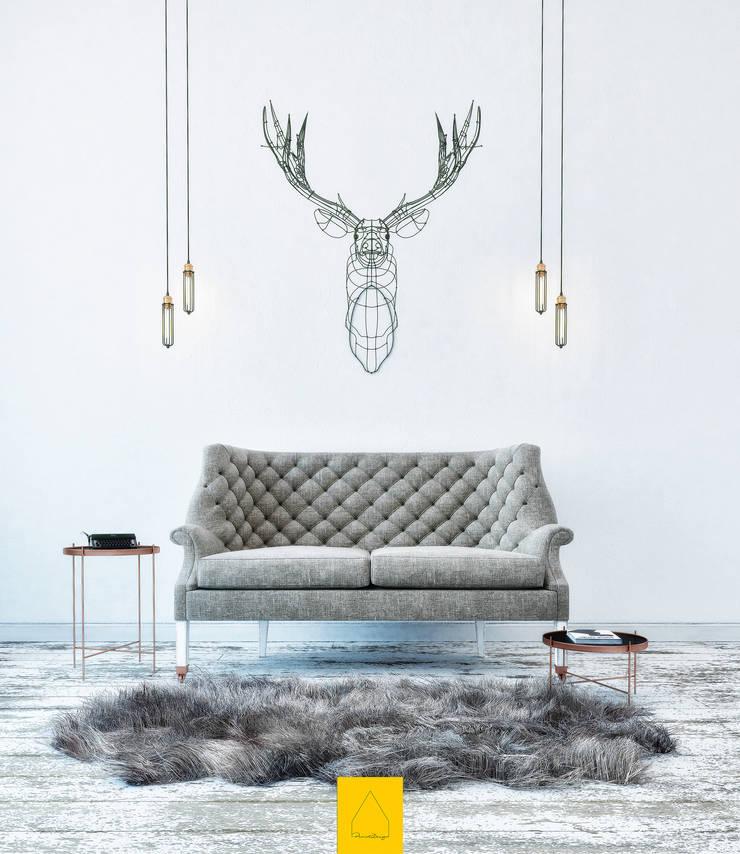 Penintdesign İç Mimarlık  – Telvin Livingroom:  tarz Oturma Odası, İskandinav