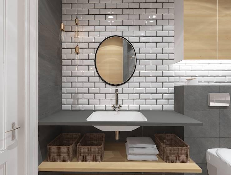 Baños de estilo industrial por Kameleon - Kreatywne Studio Projektowania Wnętrz