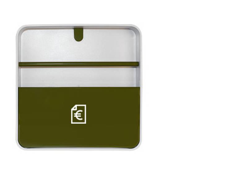 Porta Documentos Verde: Casa  por Ditto Housewares
