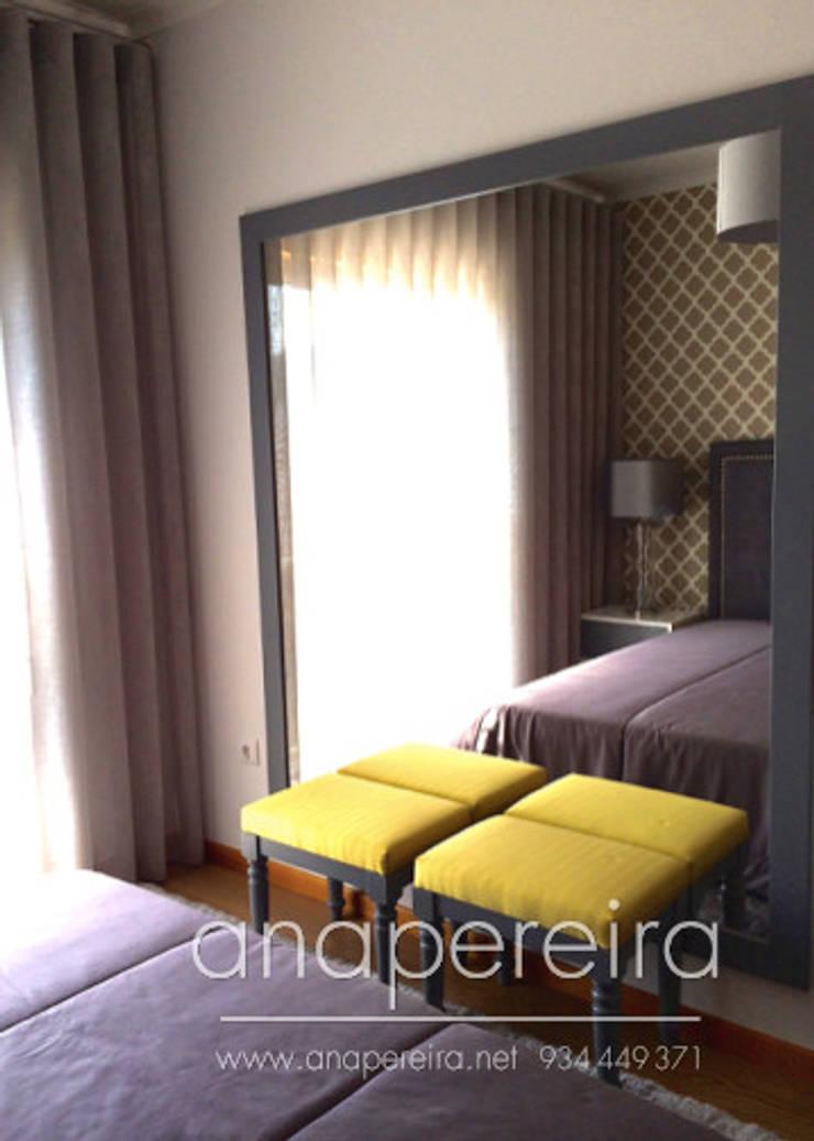 Dormitorios de estilo  de Atelier Ana Pereira Arquitetura e Decoração de Interiores
