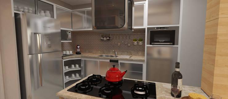 modern Kitchen by  Sotto Mayor Arquitetura e Urbanismo