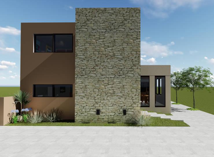 Fachada este: Casas de estilo  por Florencia Tascón - Arquitecta
