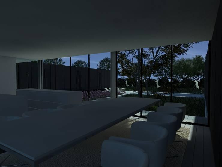Habitação AJ: Salas de jantar  por ARTEQUITECTOS