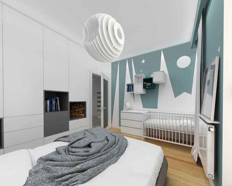 modern Nursery/kid's room by Niemniej Architekci