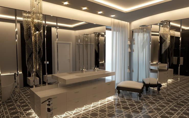 Dom Konstancin: styl , w kategorii Łazienka zaprojektowany przez AFD Interiors