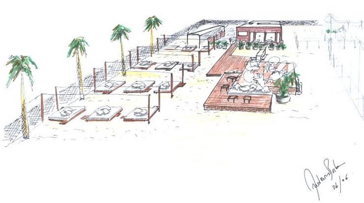 Sasha Beach Summer sechions-Praia da Rocha: Bares e clubes  por Atelier  Ana Leonor Rocha