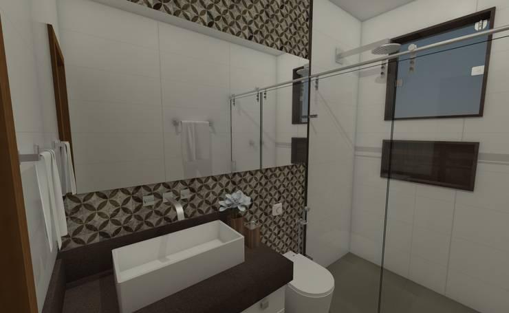 Badkamer door Luana Alvarenga - Arquitetura e Interiores