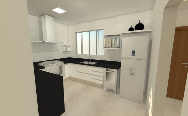 Cocinas de estilo  por Luana Alvarenga - Arquitetura e Interiores