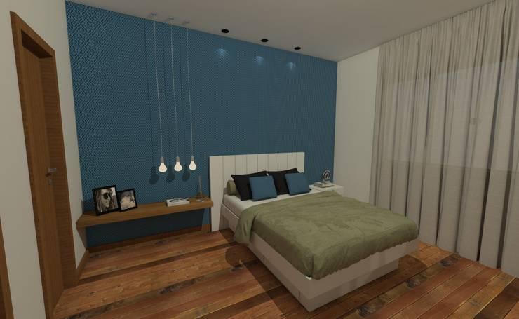 Projeto JR: Quartos  por Luana Alvarenga - Arquitetura e Interiores