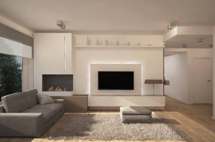 Salas de estilo moderno por Silvana Barbato, StudioAtelier