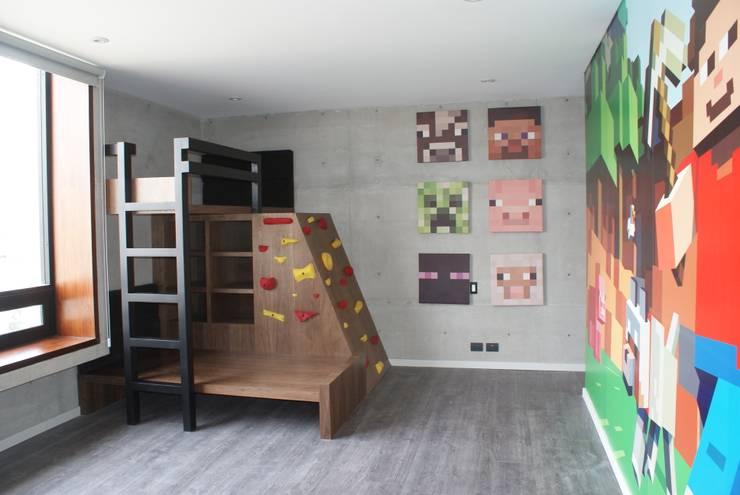 Vista general del cuarto: Habitaciones infantiles de estilo  por Caio Espacios Infantiles