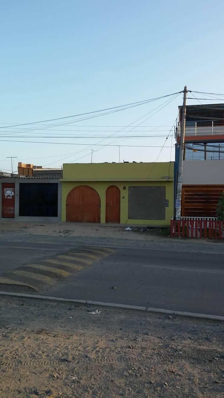 REMODELACION Y AMPLIACION – VIVIENDA UNIFAMILIAR CHIMBOTE: Casas de estilo moderno por BIANGULO DISEÑO Y CONSTRUCCION S.A.C.