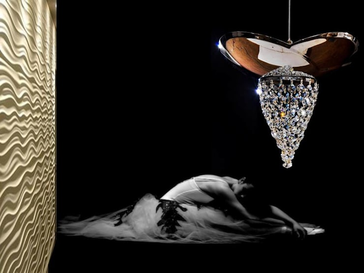 Cisne: Salas/Recibidores de estilo moderno por Goldencris