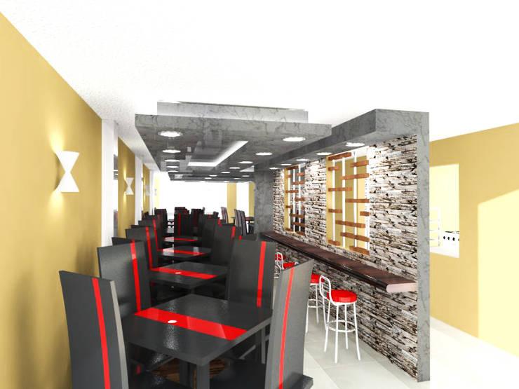 REMODELACION DE RESTAURANTE : Comedores de estilo  por BIANGULO DISEÑO Y CONSTRUCCION S.A.C.