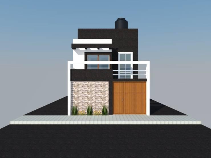 DISEÑO – VIVIENDA UNIFAMILIAR: Casas de estilo moderno por BIANGULO DISEÑO Y CONSTRUCCION S.A.C.