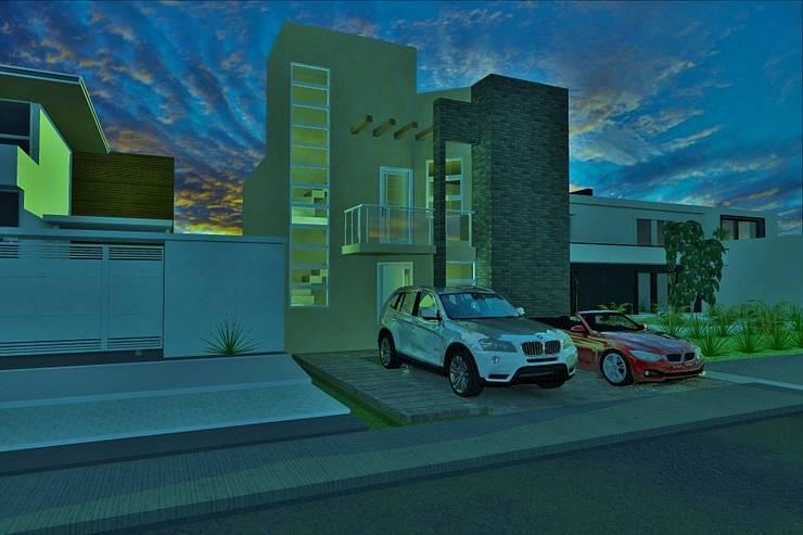 Casa ALX:  de estilo  por ARQUITECTO ALEJANDRO ORTIZ