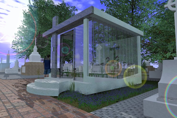 Mausoleo: Casas de estilo  por ARQUITECTO ALEJANDRO ORTIZ