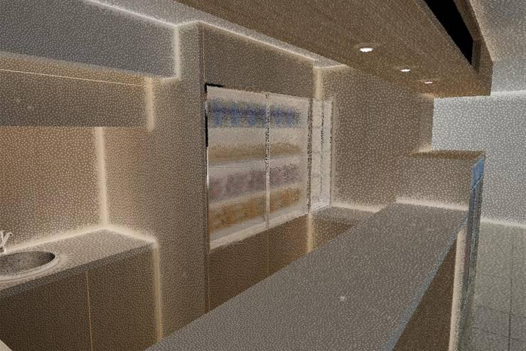 Render: Espacios comerciales de estilo  por John Robles Arquitectos