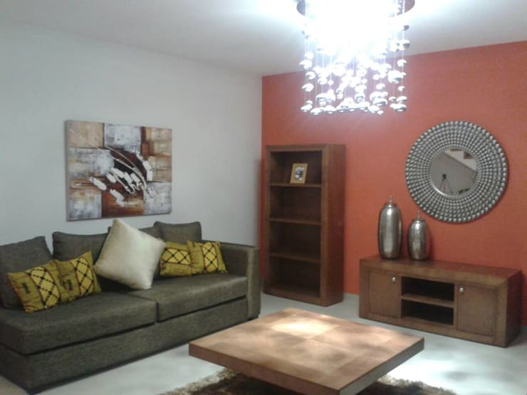 DISEÑO DE INTERIORES: Salas de estilo  por Daniela Ulloa Interiorismo