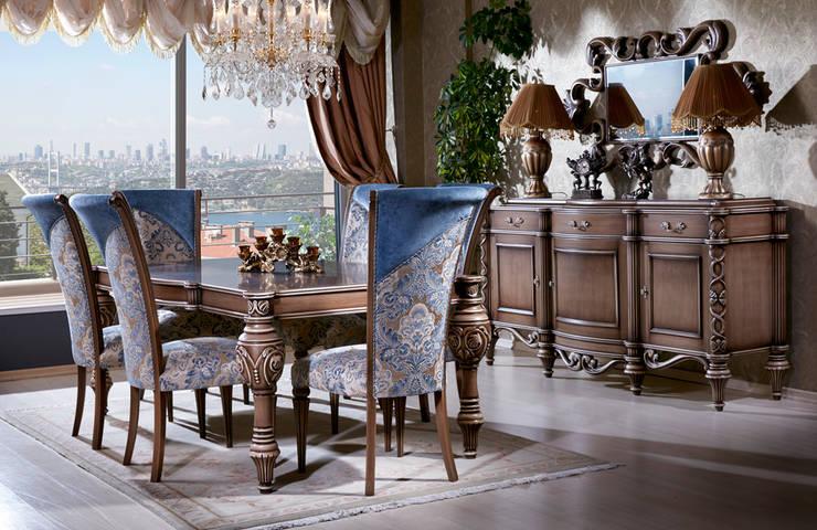 Kapars Mobilya – Angeline Klasik Yemek Odası:  tarz , Klasik