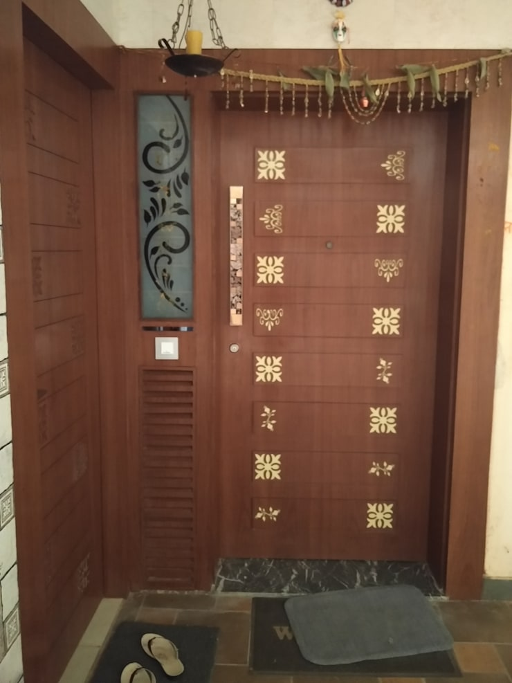 Main Door in CNC cutting design:  Windows by Shape Interiors,Asian Plywood