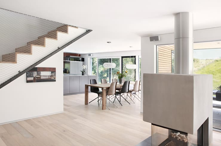 Projekty,  Jadalnia zaprojektowane przez Unica Architektur AG