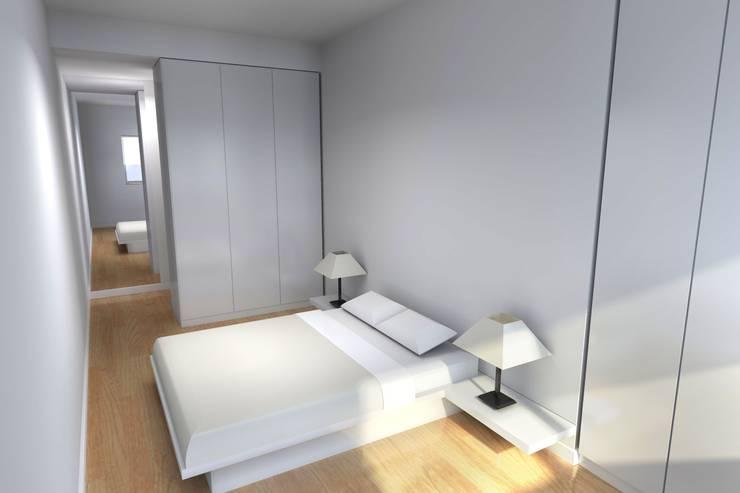 Remodelação de Apartamento: Quartos  por Zaida Amorim & Maria Luis, Lda