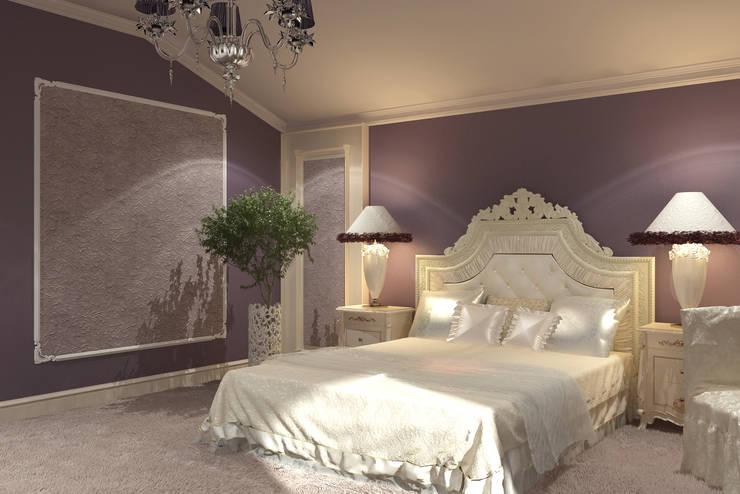 Dormitorios de estilo rural por Мастерская дизайна 'Ларчик-Art'