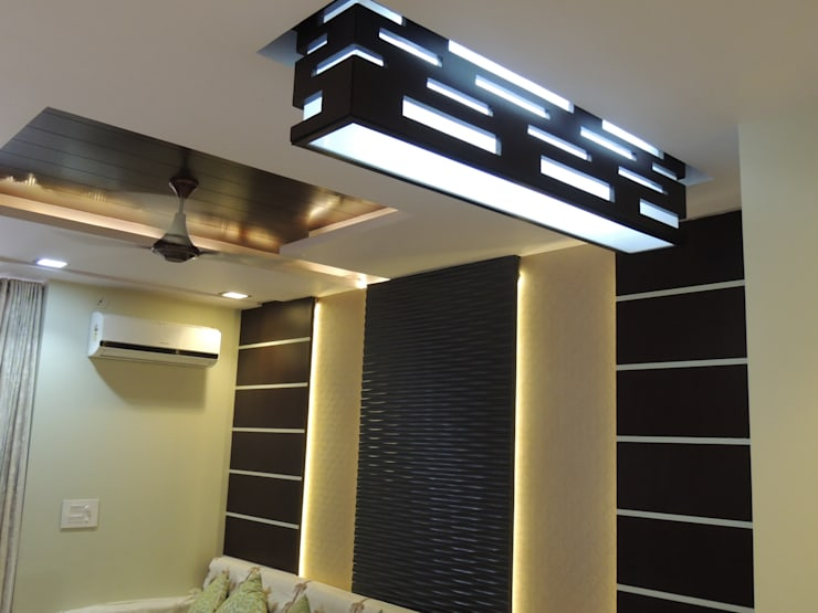 Residential Interior:  Living room by Vastu Architects
