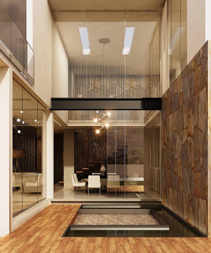 Exterior: Casas de estilo  por Besana Studio