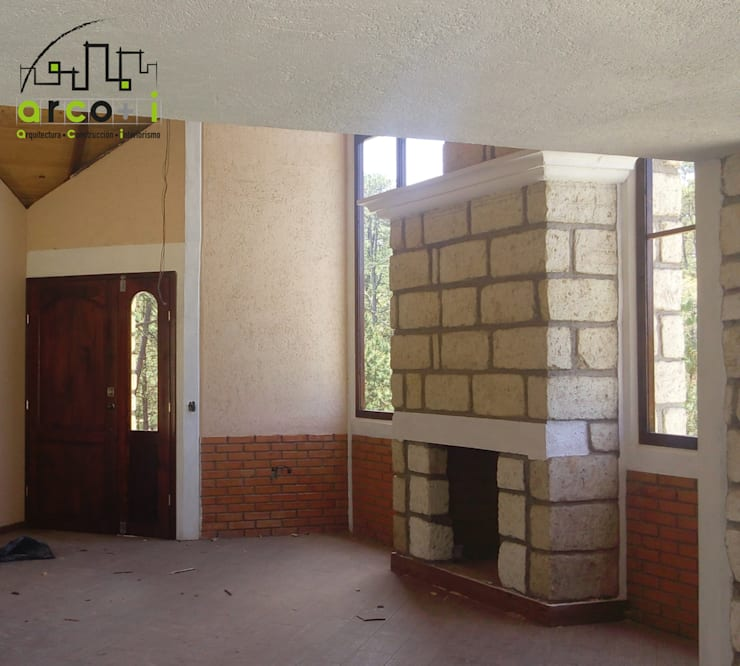 Cabaña de Descanso: Salas de estilo  por ARCO +I