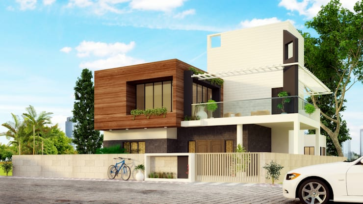 Residence at Indore:  Houses by agnihotri associates,