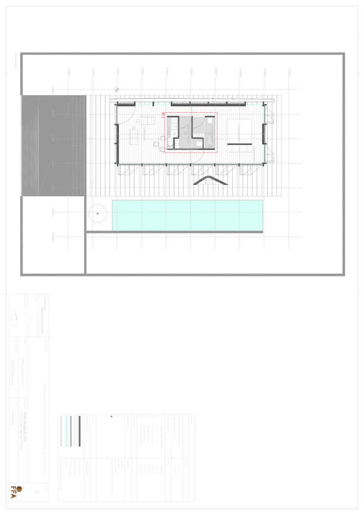 PT - Planta Rés do Chão EN - Swimming Ground floor  Plan: Casas  por Office of Feeling Architecture, Lda