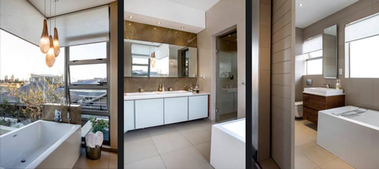 Residence Naidoo: modern Bathroom by FRANCOIS MARAIS ARCHITECTS