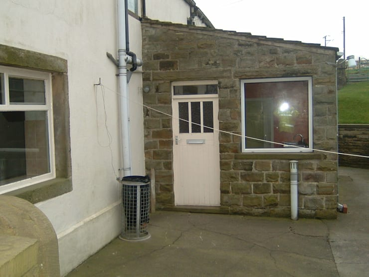 The existing cottage before conversion :   by Farrar Bamforth Associates Ltd