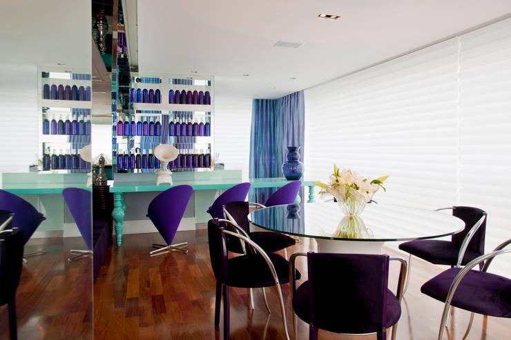 Projeto Brunete Fraccaroli: Salas de jantar  por Brunete Fraccaroli Arquitetura e Interiores