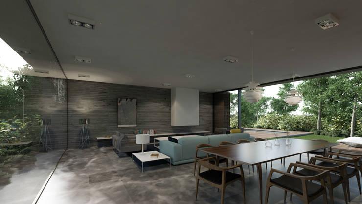 Interior: Salas de estilo  por HAC Arquitectura