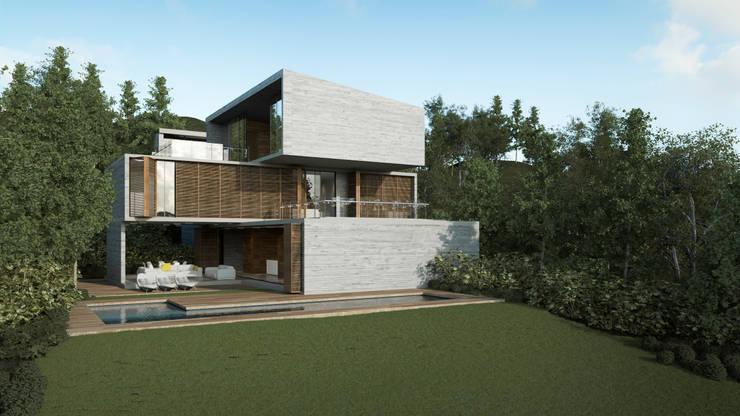 Fachada Poniente: Casas de estilo  por HAC Arquitectura