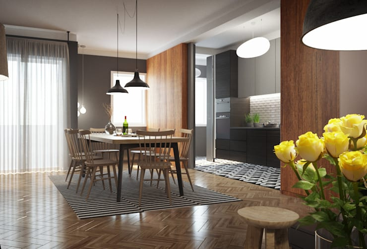 Ruang Makan by ASVS Arquitectos Associados