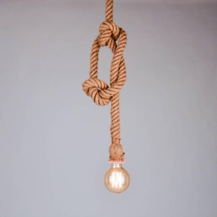 Rope / Seil-Hängeleuchte mit Fassung / Ø 5 cm / braun:  Kinderzimmer von Licht-Design Skapetze GmbH & Co. KG