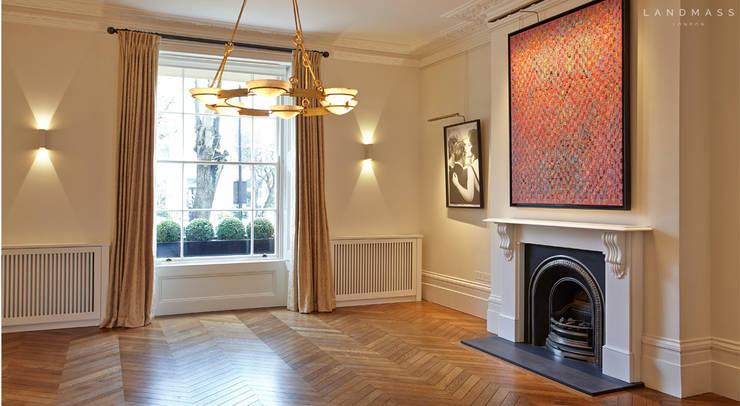 غرفة المعيشة تنفيذ Landmass London