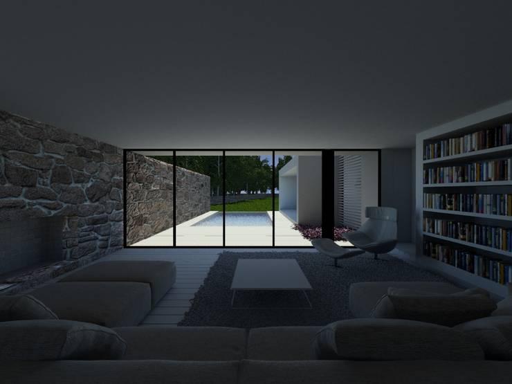 Habitação PC: Salas de estar  por ARTEQUITECTOS