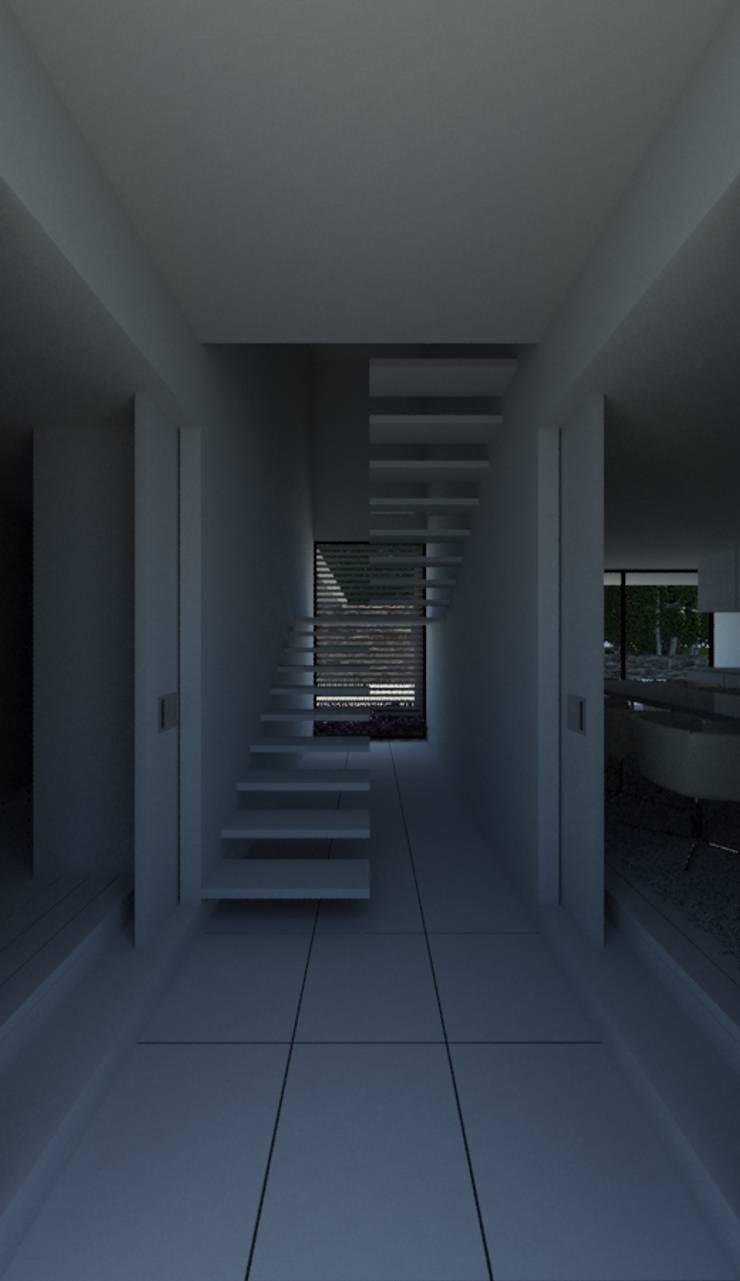 Habitação PC: Corredores e halls de entrada  por ARTEQUITECTOS