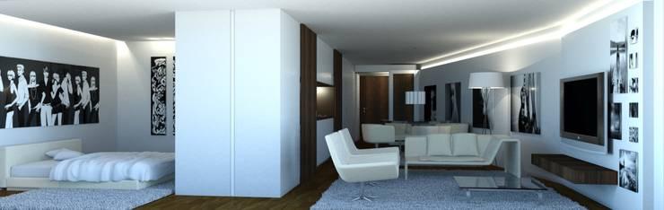 Habitação FR: Salas de estar  por ARTEQUITECTOS