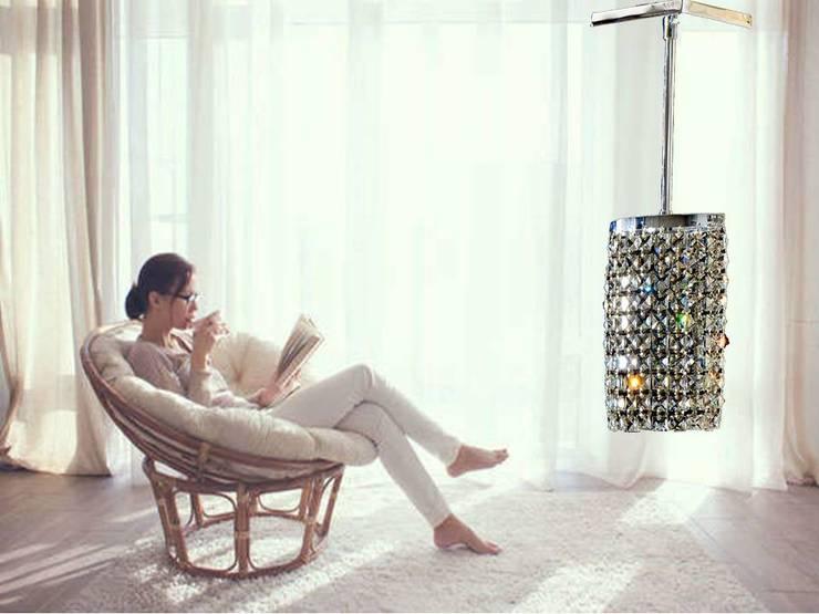 Oval Strass Quadrel: Dormitorios de estilo  por Goldencris