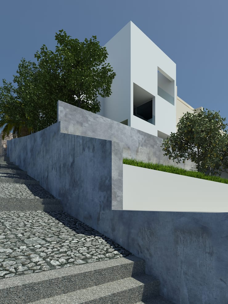 Asian style house by ARTEQUITECTOS Asian