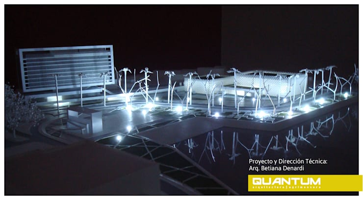 MAQUETA - NIVEL OBSERVADOR - NOCTURNO:  de estilo  por Betiana Denardi | Arquitecta