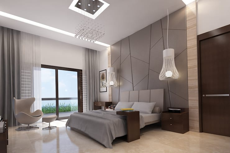 Bungalow at Undri: modern Bedroom by Space Craft Associates